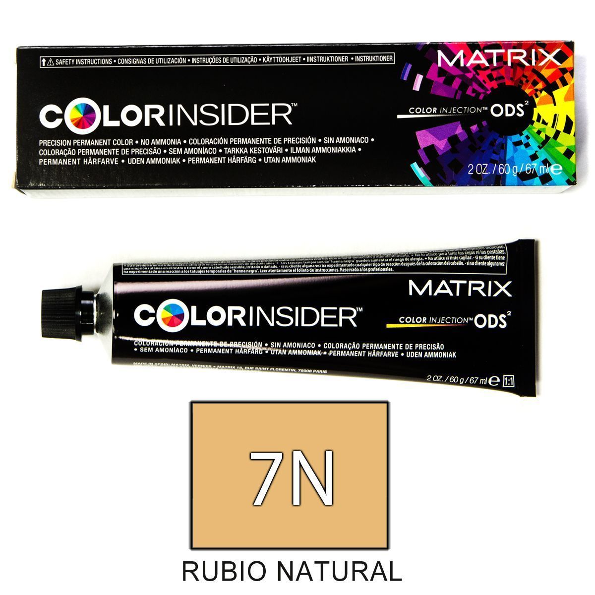 Matrix Color Insider 7N RUBIO NATURAL tinte 60gr.